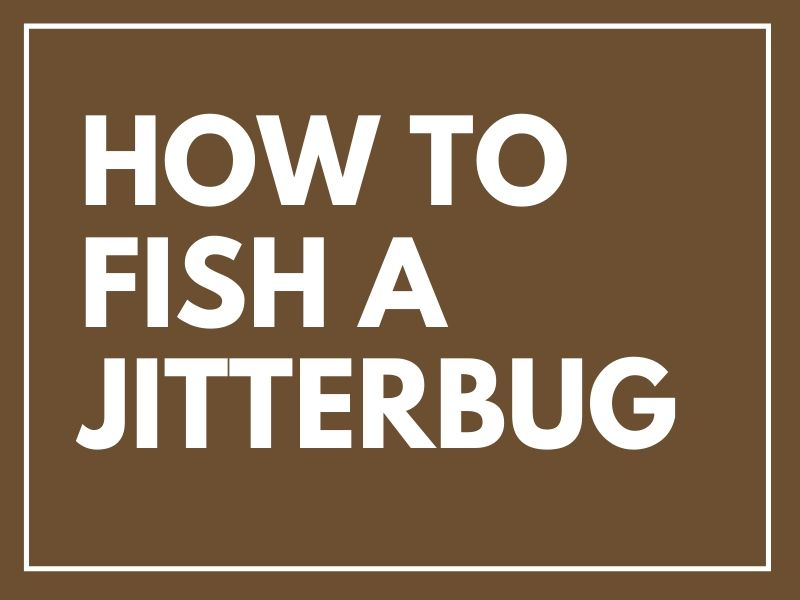 How to Fish a Jitterbug