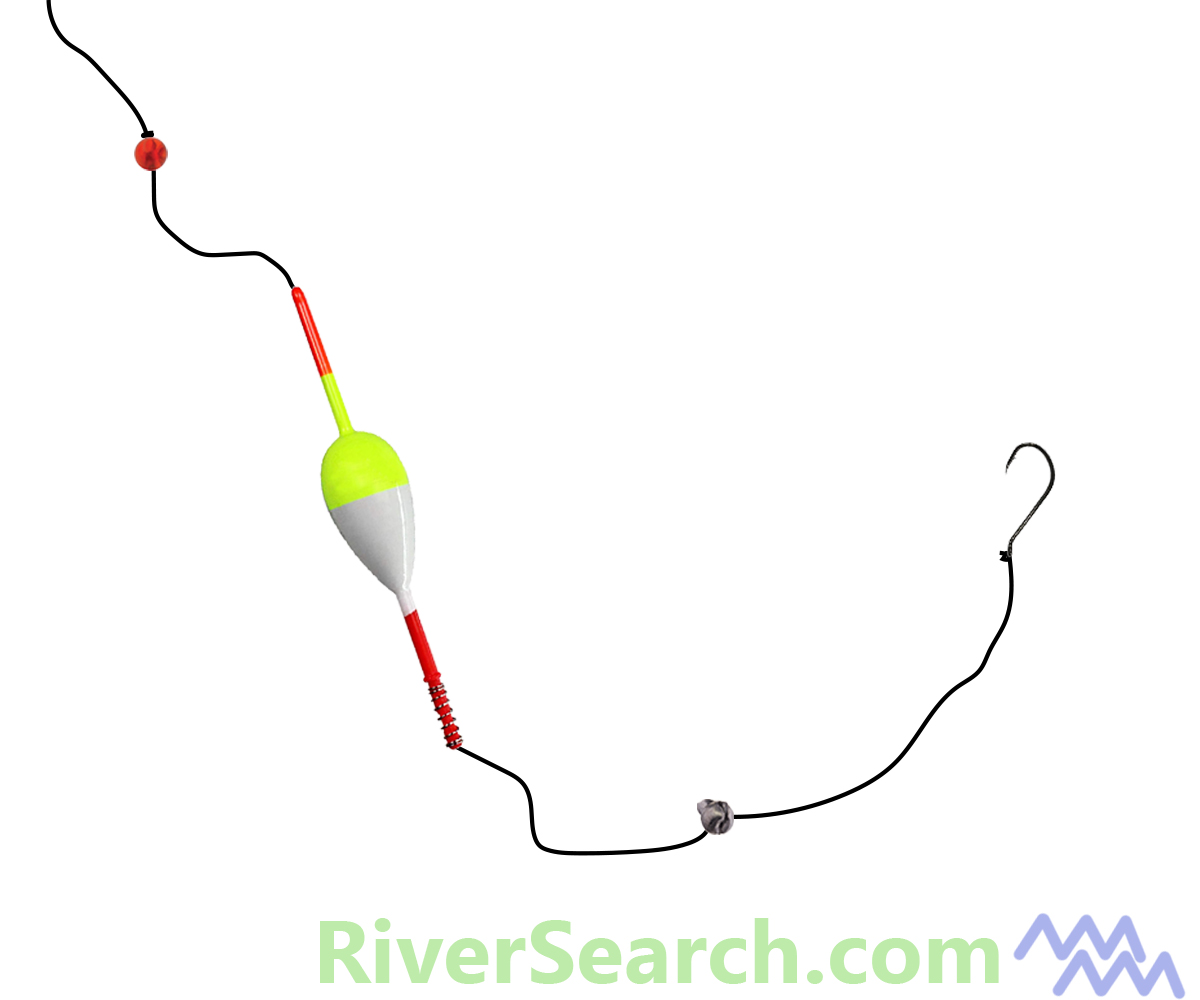 Slip Float Rig Trout Diagram